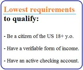 low requirements 3 month cash advance